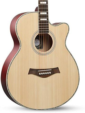 Guitarra principiante, madera de abeto retro Guitarra ...