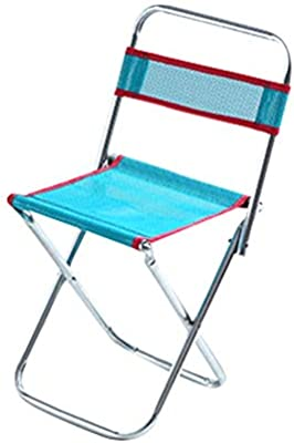 Outdoor Portable Folding Chair Camping Stool Backrest