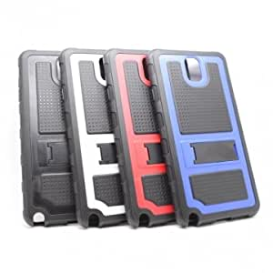 Dual Color Kickstand Protective Back Case For Samsung Galaxy Note 3 -*- Color -- Black+Red