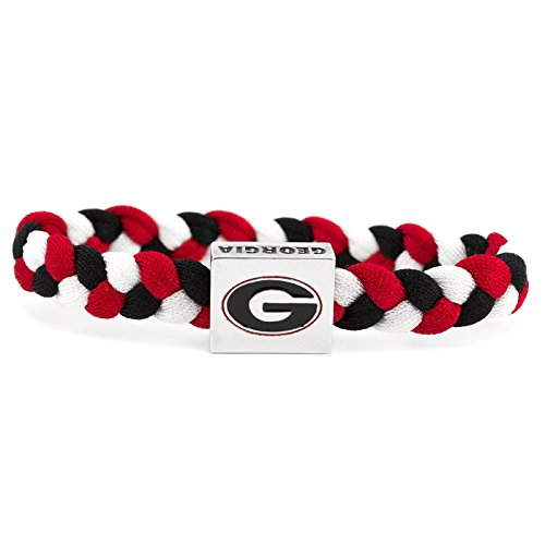 Bulldog Wristband (NCAA Game Day Nylon Woven Bracelet - Georgia Bulldogs)