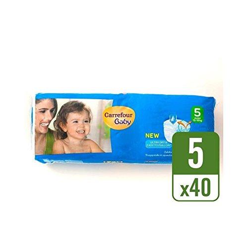 Carrefour Bebé Tirón Seco De Ultra En El Tamaño Del Paquete De 5 Unidades Por Paquete Esencial 40 - Paquete de 6: Amazon.es: Bebé