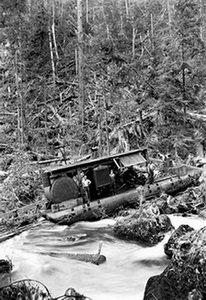 Logging Boat in a Tangle 20x30 poster (Logging Boat)