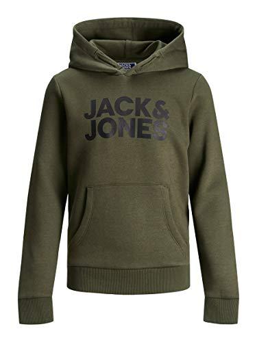 JACK & JONES jongens trui met capuchon JJECORP LOGO SWEAT HOOD NOOS JR
