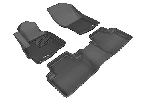 3D MAXpider Complete Set Custom Fit All-Weather Floor Mat for Select Mitsubishi Outlander Models - Kagu Rubber (Black) (Mitsubishi Sport Accessories compare prices)