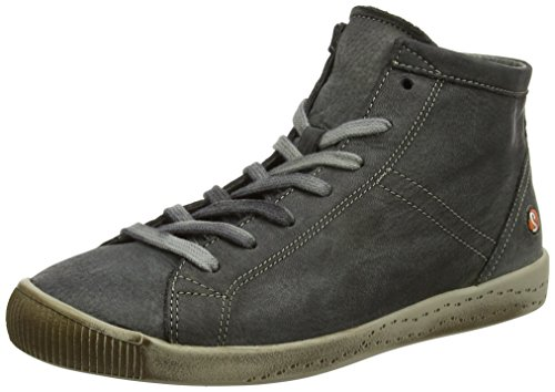Softinos Isleen Washed, Sneaker a Collo Alto Donna Grigio (Militar)