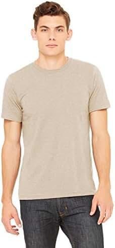 Bella+Canvas Unisex Jersey Short-Sleeve Crewneck T-Shirt, Small, HEATHER TAN