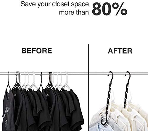 41StenZsoTL. AC HOUSE DAY Black Magic Hangers Space Saving Clothes Hangers Organizer Smart Closet Space Saver Pack of 10 with Sturdy Plastic for Heavy Clothes    Product Description