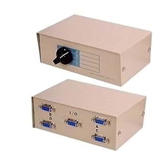 Solent Cables - Caja conmutadora de serie RS232, 9 pines, 4 vías, manual)