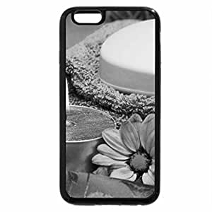 iPhone 6S Plus Case, iPhone 6 Plus Case (Black & White) - Blue Spa