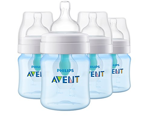 Philips Avent Anti-colic Baby Bottle with AirFree vent 4oz 4pk Blue, SCF402/44
