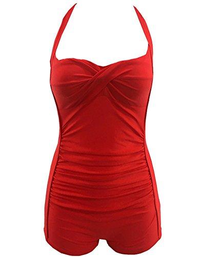 Donna Up Push Retro Beachwear Da Bikini Costume Rosso Bagno qqUTwnfxR