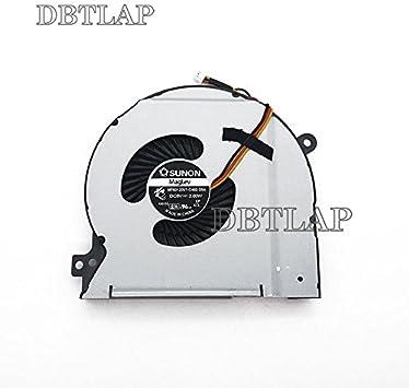 DBTLAP Ventilador de la CPU del Ordenador portátil para DELL XPS 15 L502X L501X P11F P11F003 Portátil CPU Ventilador Cooler DFS601305FQ0T F98S DP/N 0W3M3P