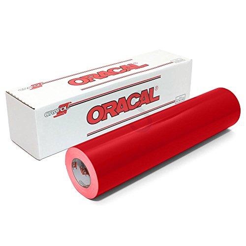 [해외]Oracal 651 광택 영구 비닐 12 인치 x 6 피트 - 빨간색/Oracal 651 Glossy Permanent Vinyl 12 Inch x 6 Feet - Red