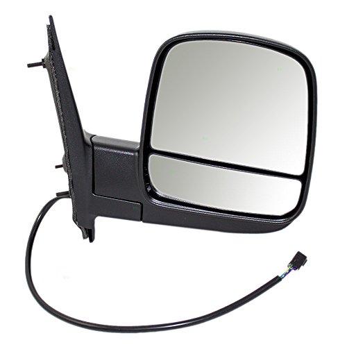 Passengers Power Side View Dual Mirror Glass Heated Replacement for Chevrolet Express GMC Savana Van 15227437 AutoAndArt