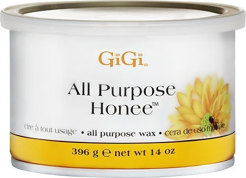 Gigi Waxing Hair Removal Kit, with Space Saver Compact Professional Wax Warmer with On/Off Indicator, and Accommodates 8 Oz, 14 Oz GiGi Wax Containers with 14 Oz. All Natural Espresso Honey Wax and Natural Muslin & Spatula Combo with BONUS FREE Bikini Soo