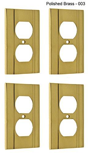 プロフェッショナルグレード品質純正Solid Brass Heavyキャスト単一壁コンセントプレート( 光沢真鍮 4パック) by 53002P4-003 IDH 4パック) 53002P4-003 B01B6LX6IY 光沢真鍮, 買取小町:1f31c133 --- gamenavi.club