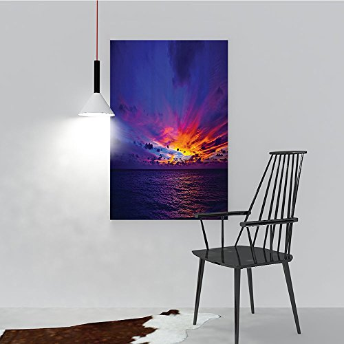 Pacific Northern Flat Car - Philip C. Williams Modern Decoration for Living Room Bedroom Home eDream Sunin Ocean Northern Lights yd Pacific Sea Atmosphere Art Wall Decor Frameless W24 x H32