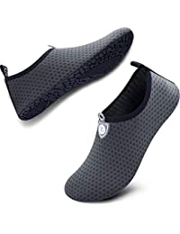 best service 54cad f7452 Womens and Mens Water Shoes Quick-Dry Aqua Socks Barefoot for Outdoor Beach  Swim Surf