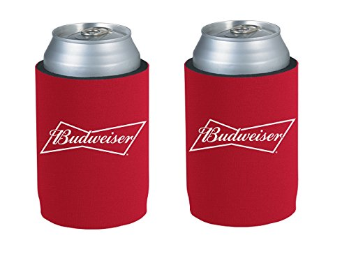 Officially Licensed Budweiser Drink Can Holder Neoprene Beer Huggie Cooler Sleeve (2) - Budweiser Bottle