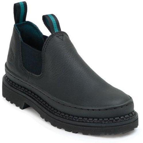 Georgia Women's Slip-In Giant Romeo Black Work Boots G-3060 (M8.5) by Georgia Boot (Image #1)