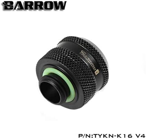 Silver Shiny 4-Pack Barrow G1//4 to 16mm Hard Tubing Compression Fitting for Use with Barrow Rigid Tubing Only