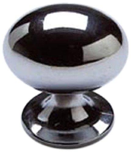 - Bulk Hardware BH01086 Silver Tone Oval Metal Cabinet Knob, 1-1/4