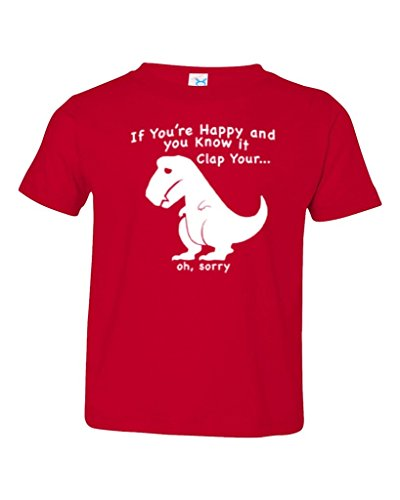 Price comparison product image P&B If You're Happy and You Know It,  Sad Dino Toddler T-shirt,  2T,  Red