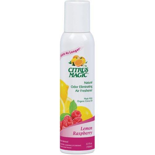 Citrus Magic Natural Odor Eliminating Air Freshener Spray, Lemon Raspberry, 3.5-Ounce (Freshener Citrus Lemon Pure Air)