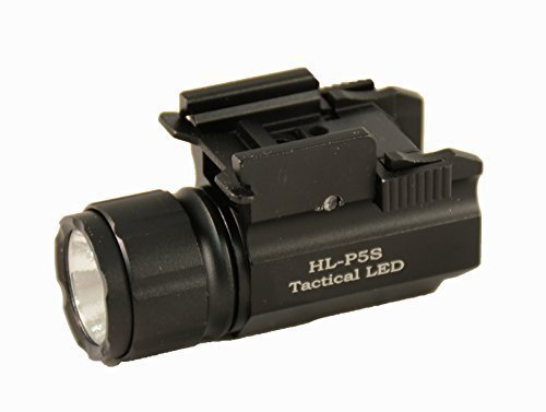 Aimkon HiLight P5S 500 Lumen Sub-compact Pistol LED Strobe Flashlight for with Weaver Quick Release for Glock Series, Sig Sauer, Smith & Wesson, Springfield, Beretta, Ruger, and Heckler & Koch, etc (
