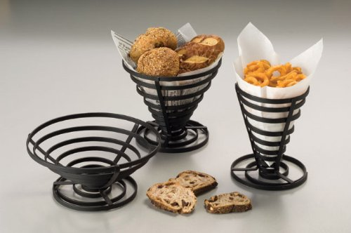 American Metalcraft FCD1 Wrought Iron Flat Coil Slanted French Fry Basket, 5-Inch