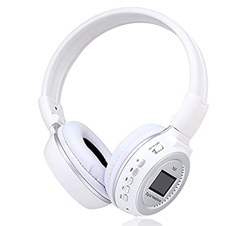 Gosear N65 Plegable LCD Pantalla 3,5 mm Digital Alta Fidelidad Auriculares Estéreo Inalámbricos Auriculares Auricular Micrófono Incorporado Reproductor de ...