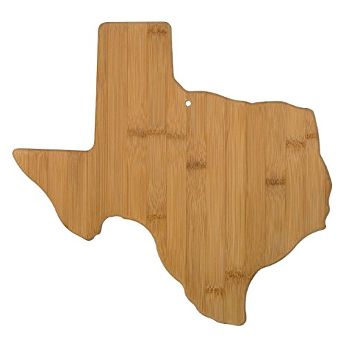 Totally Bamboo 20-7957TX Texas State Shaped Bamboo Serving & Cutting Board,
