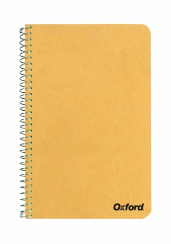 Ampad Single Wire Notebook, 8 x 5, 1 Subject, Tan Cover, Narrow Ruled, Greentint, 80 Sheets Per Notebook (25-401) 8 Notebook