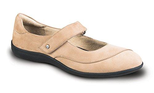 Revere Amalfi Kvinders Komfort Sko Med Aftagelig Fod Seng Og Justerbar Rem Læder Velcro Grå / Nubuck gRFVjZC