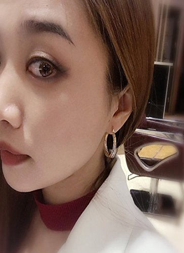 Juvel Jewelry Fine Gold Plated 3 Rings Multi Color Special Earrings Hoop for Birthday Gift by Juvel Jewelry (Image #4)