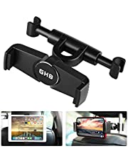 GHB Tablet Headrest Mount Tablet Car Mount Car Seat Tablet Holder 360 Degrees Rotatable for All 4.7 to 11 Inch Smart Phones and Tablets