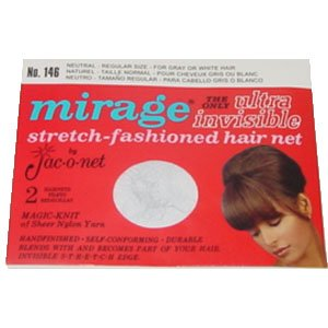 Jac-o-net Mirage Ultra Invisible Hair Net Regular Size * Neutral * No. 146 * 2 Nets Per Package (Hair Nets Mirage)
