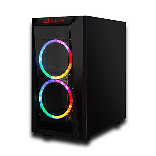 CLX Set Gaming Desktop - AMD Ryzen 5 5600X 3.7Ghz 6-Core Processor, 16GB DDR4 Memory, GeForce RTX 3070 8GB GDDR6 Graphics, 240GB SSD, 2TB HDD, WiFi, Windows 10 Home 64-bit