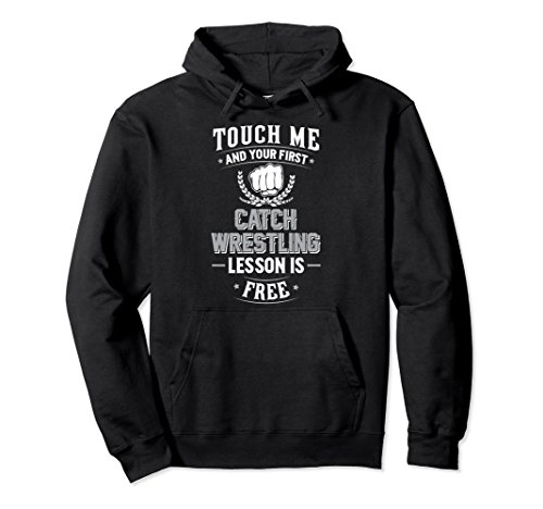 Unisex Catch Wrestling Pullover Hoodie - Your First Lesson Free! XL: Black by Catch Wrestling Training Hoodie