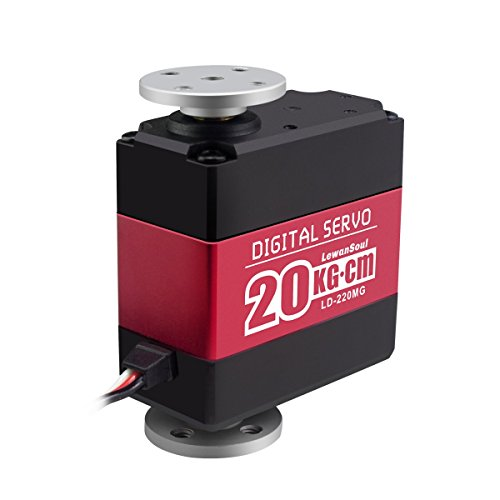 Hiwonder LD-220MG 20kg High Torque Full Metal Gear Digital Servo with Dual Ball Bearing, Aluminium Case, Metal Servo Horn, Metal Bracket for Robot(Control Angle 180)