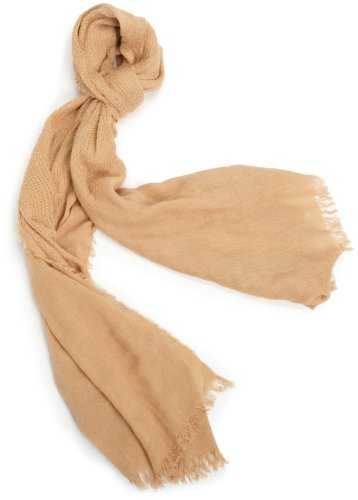 Jessica Simpson Scarf - Collection XIIX Women's Jessica Simpson Rustic Weave Wrap Scarf, Camel, X-Large