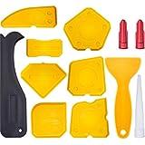 Hestya 12 Pieces Caulking Tool Kit Silicone Sealant Finishing Tool Grout Scraper Caulk Remover and Caulk Nozzle and Caulk Caps