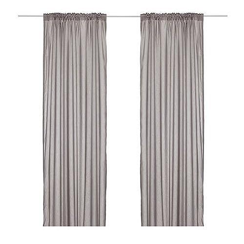 Merveilleux Ikea Thin Curtains, 1 Pair, Gray