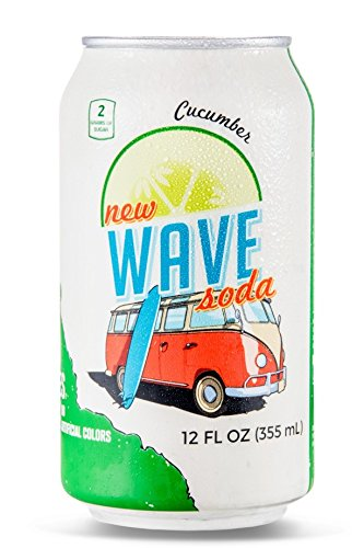 - Wave Soda Sparkling Juice, Cucumber, 12 Ounce Cans (Pack of 12)