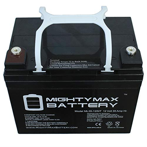 Mighty Max Battery 12V 35AH Internal Thread Battery Interstate DCM0035 Wheelchair Brand Product