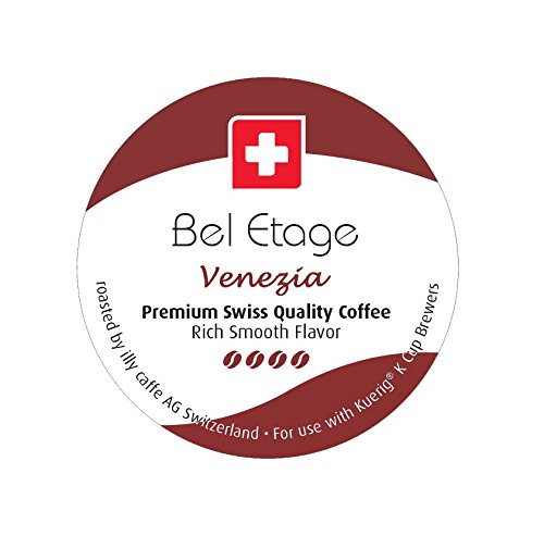 Cafe Bel Etage 15 Ct Roasted By Illy AG (Swiss) Medium Roast Venezia Blend Coffee Single Serve For Keurig K-Cup Brewers