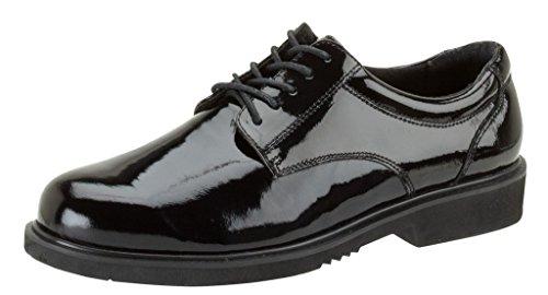 Thorogood Men Poromeric Academy Gloss Black Leather Oxford Service Shoe - 13 XW