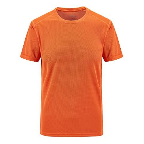 DERSS85 T-Shirt Outdoor Casual da Uomo Taglie Forti Traspiranti per Il Tempo Libero