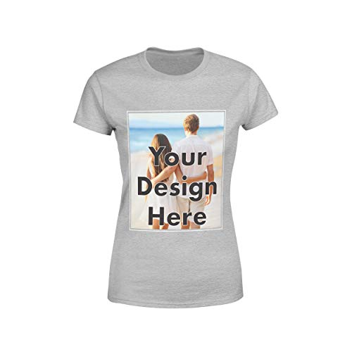 Arokan Customize Shirts for Women Custom T Shirts Design Your Own Crew Neck Womens Personalized Tshirts