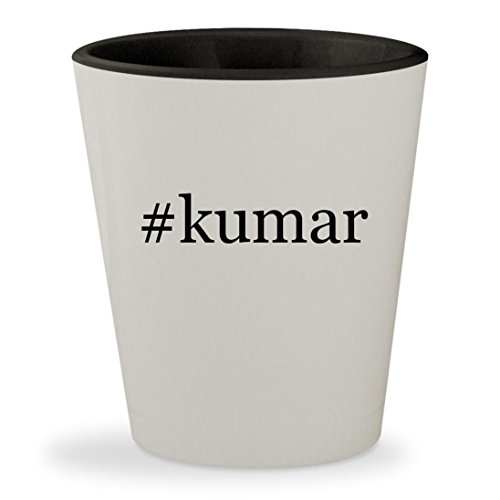 #kumar - Hashtag White Outer & Black Inner Ceramic 1.5oz Shot Glass (Songs Kumar Christmas Satish)